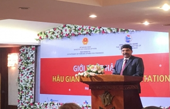 Signing ceremony of MoU on Investment Cooperation between Hau Giang Province of Vietnam and Indian Chamber of Business in Vietnam on 26 January 2018 in Ho Chi Minh City