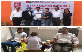 Blood Donation Drive 2018 organised by INCHAM on 8 August in Long Anh Province and on 12 August in Ho Chi Minh City