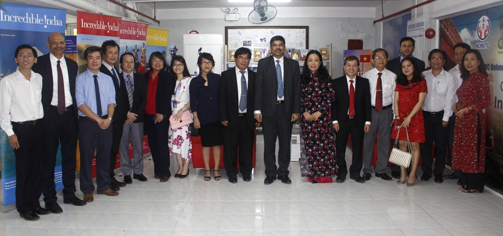 Opening of an India Corner at Ho Chi Minh City University of Technology and Education on 27 December, 2018