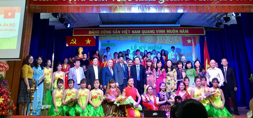 Celebration of the 70th Republic Day of India by Ho Chi Minh City Union of Friendship Organizations (HUFO) and Vietnam - India Friendship Association (VIFA) in Ho Chi Minh City