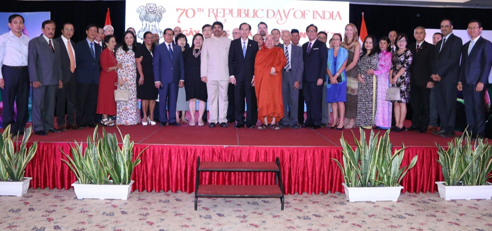 A National Day Reception hosted by the Consulate at Hotel Rex in Ho Chi Minh City on 26 January, 2019 on the occasion of 70th Republic Day of India