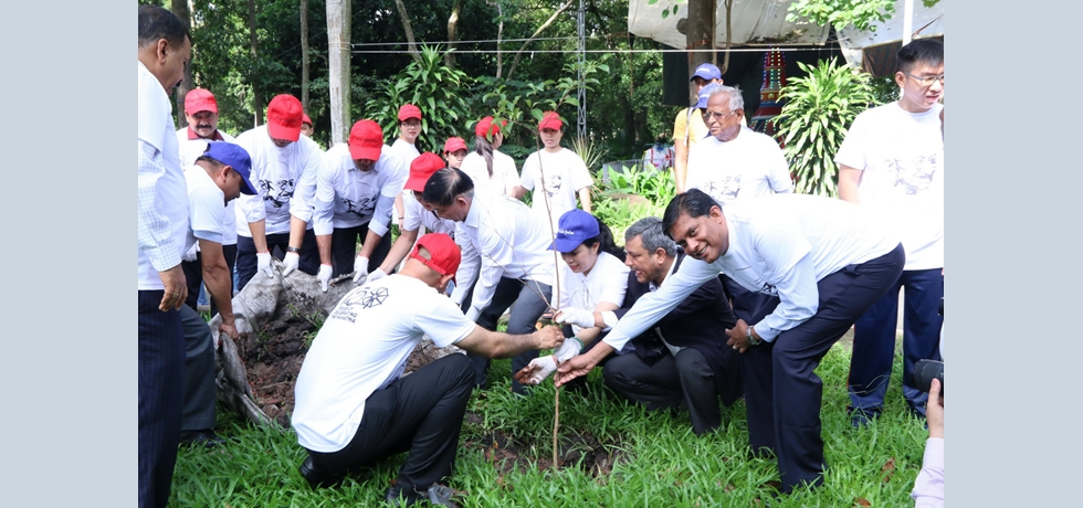Planting of trees at Saigon Zoo and Botanical Garden to celebrate the World Environment Day in the Context of Gandhi@150