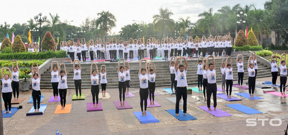 Celebration of 5th International Day of Yoga in Soc Trang Province, Vietnam on 23rd June, 2019