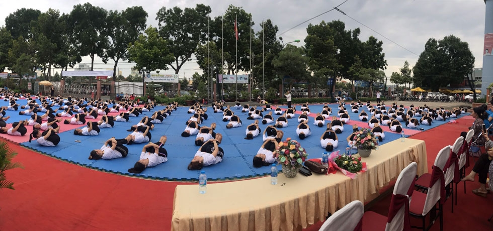 Celebration of 5th International Day of Yoga in Tien Giang Province on 21 June 2019