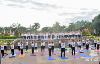 Celebration of 5th International Day of Yoga in Soc Trang Province on 23rd June 2019