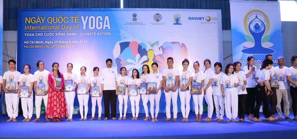 Celebration of 5th International Day of Yoga in Ho Chi Minh City on 29 June 2019