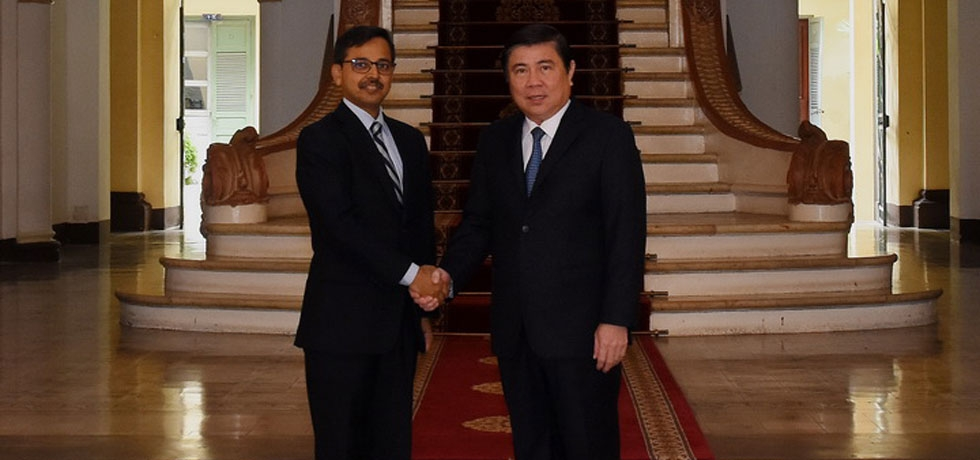 Courtesy Call by Ambassador Mr. Pranay Verma on Mr. Nguyen Thanh Phong, Chairman, Provincial Peoples Committee, HCMC during Ambassador's visit to HCMC on 20-22 August, 2019