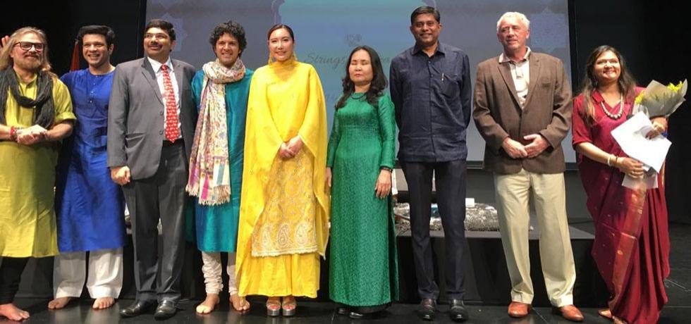 Sarod performance by Shri Amaan Ali Bangash and Shri Ayaan Ali Bangash, featuring Violinist Jmi Ko and Tabla player Shri Vijay Ghate on 28.09.2019 at Ho Chi Minh City