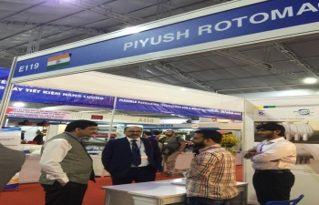 Visit of Consul General Dr. K. Srikar Reddy to the India Pavilion at VietnamPlas, the 19th Vietnam International Plastics and Rubber Industry Exhibition, on 04th October 2019 and interaction with the Indian exhibitors. 16-Indian Companies led by PLEXCONCIL (The Plastics Export Promotion Council of India) participated in the 4-day expo from 03-06 October 2019 held at SECC, Ho Chi Minh City.