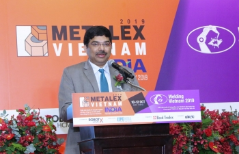 Inauguration of the India Pavilion & interaction with Indian exhibitors at METALEX Vietnam 2019 by Consul General Dr. K. Srikar Reddy on 10th October, 2019. India is the partner country for METALEX Vietnam 2019 and 56 Indian companies led by EEPC India are exhibiting in the Expo.