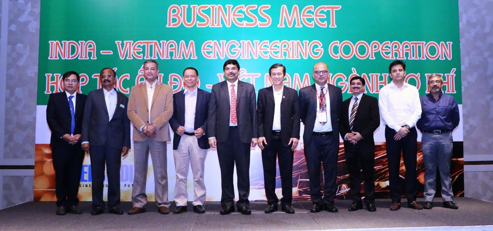 B2B event organized by CGI, HCMC in coordination with Vietnam's MOIT & HAMEE on 11 Oct. 2019 for 52 Indian companies led by EEPC India participating in METALEX 2019 in HCM City. Over 100 persons, including CEOs of Engineering companies from both countries participated.