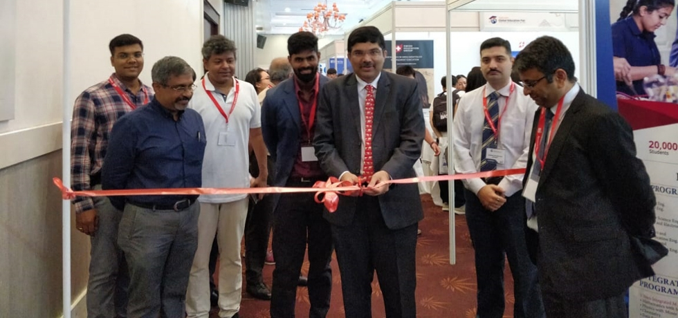 Inauguration of 'Study in India' pavilion in BMI Global Education Fair by Consul General Dr. K. Srikar Reddy on 11th October, 2019. 10-Indian reputed educational institutions exhibited at the 2-day fair in HCM City from 11-12 October 2019. During his visit to the fair, the Consul General interacted with the Indian exhibitors and Vietnamese students.