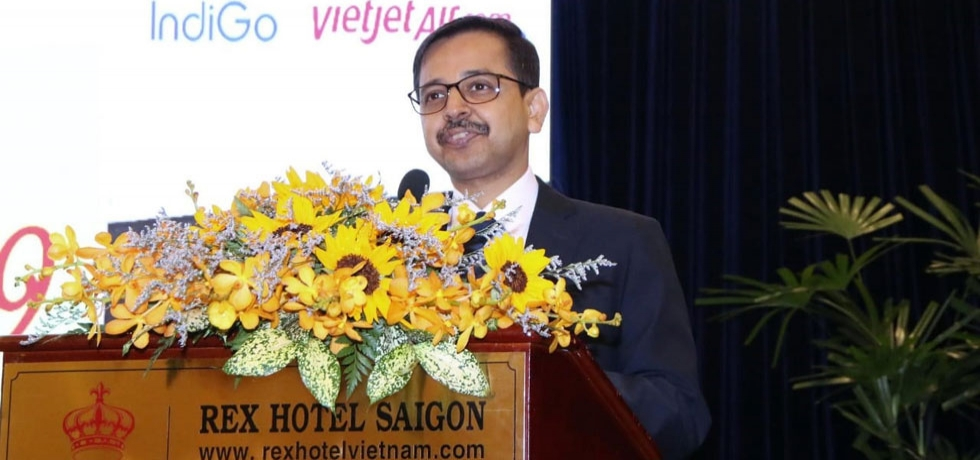 Ambassador Mr. Pranay Verma delivering welcome remarks during 'Incredible India Tourism Roadshow 2019' organized by the Consulate General of India, Ho Chi Minh City on 27th November, 2019