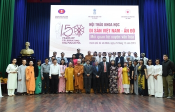 Seminar on 'Vietnam India Heritage - Cross Cultural Relations' organized by the University of Social Sciences and Humanities, Ho Chi Minh City in collaboration with the Consulate General of India and Vietnam Buddhist Research Institute on 24.12.2019