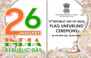 Celebration of 71st Republic Day of India in Consulate General of India, Ho Chi Minh City
