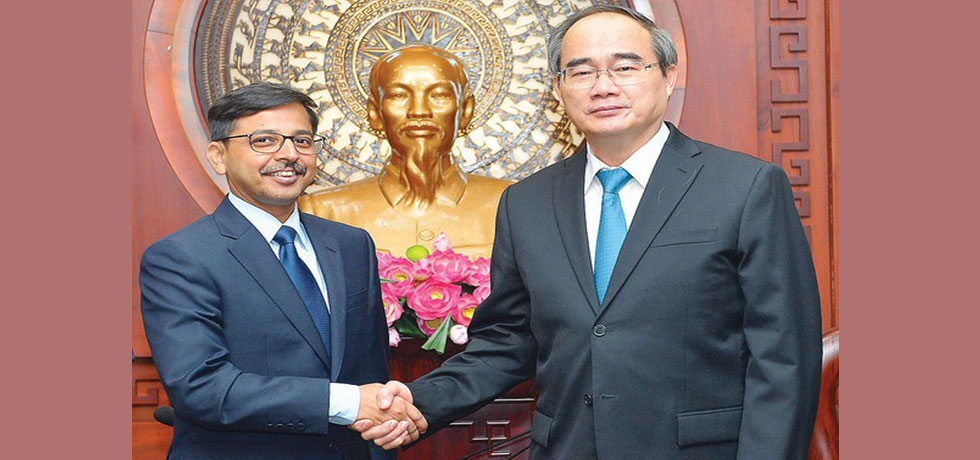 Call on H.E. Mr. Nguyen Thien Nhan, Party Secretary Ho Chi Minh City by Mr. Pranay Verma, Ambassador of India to Vietnam on 29.06.2020