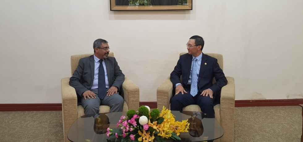 Mr. R. O Sunil Babu, Acting Consul General calls on Mr. Tran Phuoc Anh, Deputy Director General of the Department of External Relations of Ho Chi Minh City on July 16, 2020