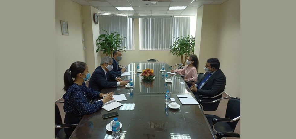 Meeting between Consul General Dr. Madan Mohan Sethi and Mr. Võ Tân Thành, Director, Vietnam Chamber of Commerce and Industry - HCMC branch, on September 03, 2020.