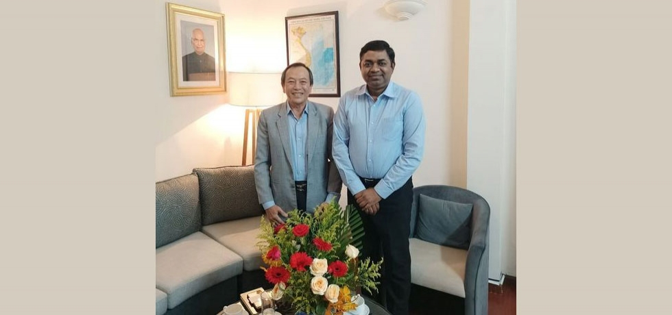 Dr. Madan Mohan Sethi, Consul General welcomed Mr. Diệp Thành Kiệt, Chairman, HCMC Leather, Footwear and Handbag Association (LEFASO) on September 09, 2020.