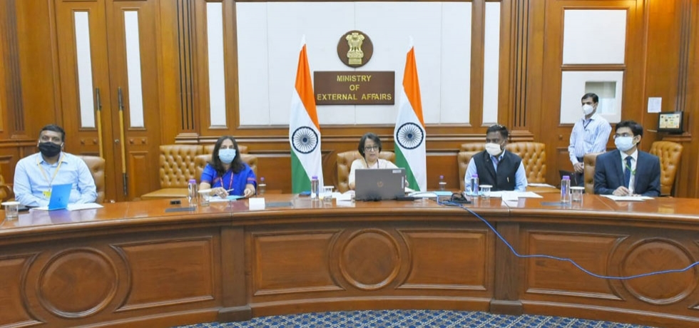 Mrs. Riva Ganguly Das, Secretary (East) delivering her remarks during India-Vietnam Business Forum organized by Consulate General of India, Ho Chi Minh City under the guidance of Embassy of India, Hanoi on 20th October, 2020