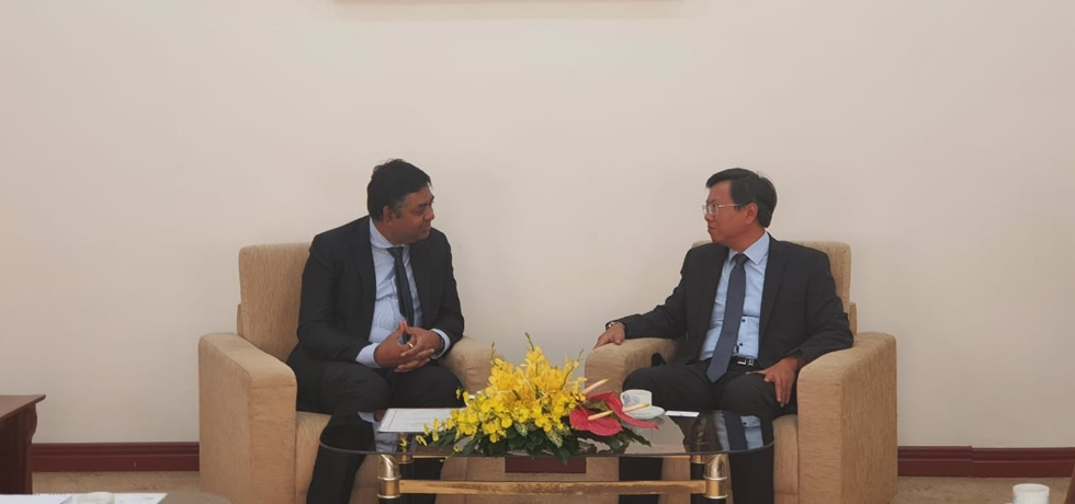 Courtesy call on Mr Le Quang Long, Director General of Department of External Relations by Dr. Madan Mohan Sethi, Consul General of India to Ho Chi on 17th November, 2020