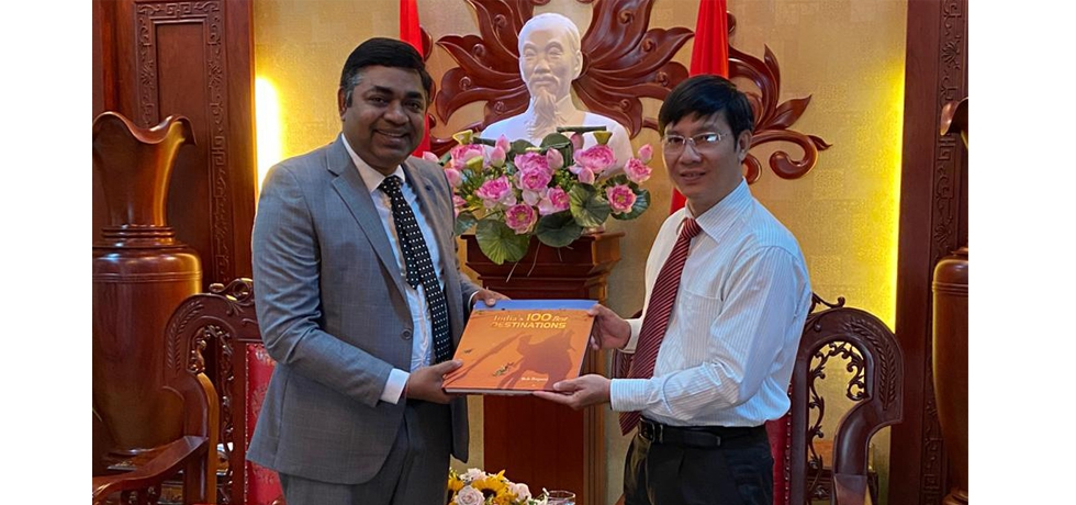 Meeting of Dr. Madan Mohan Sethi, Consul General with H.E Mr. Nguyen Thanh Tam, Secretary of the Party Committee of Tay Ninh Province on 5th January, 2021.
