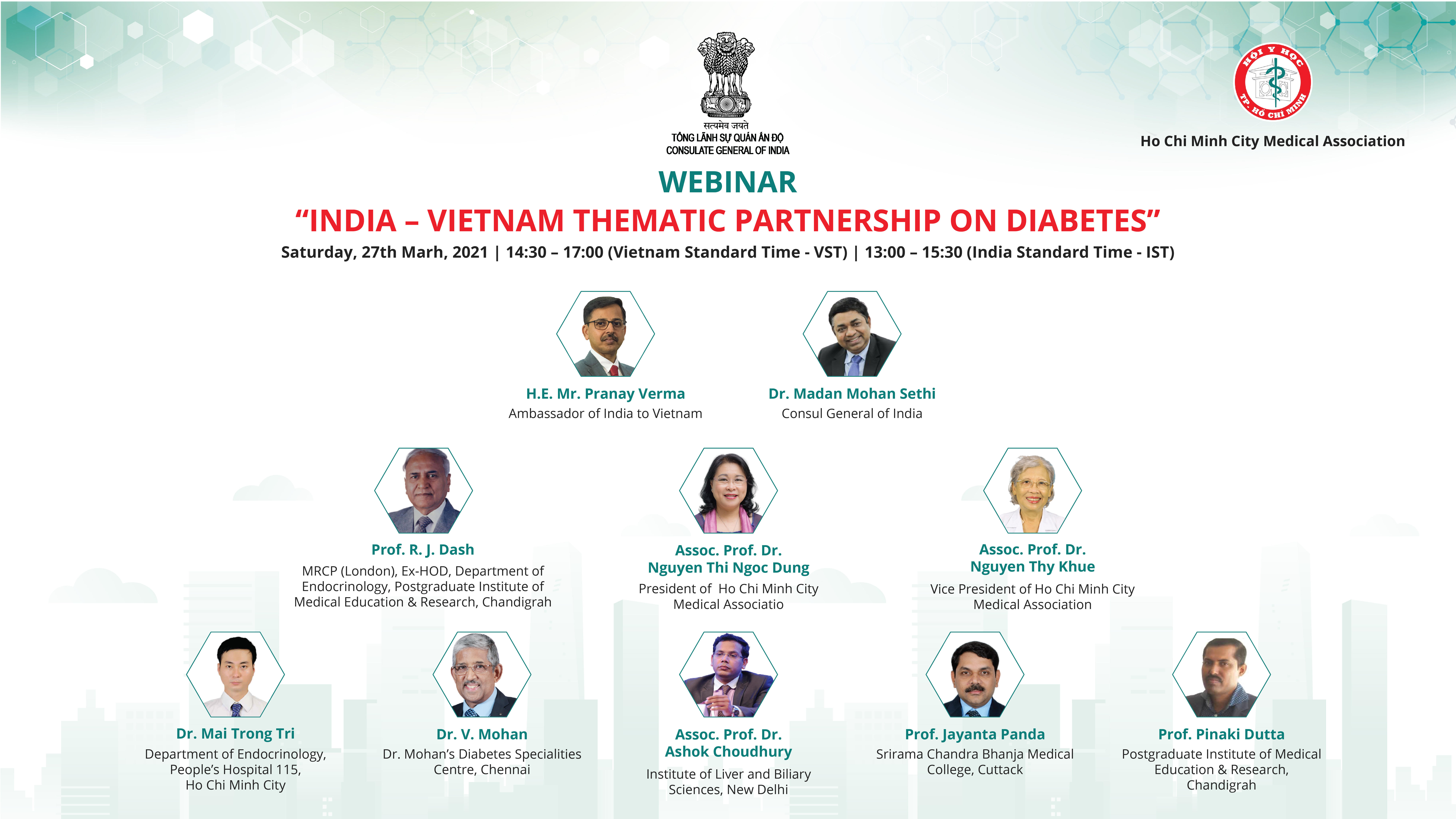 Webinar on 'India - Vietnam Thematic Partnership on Diabetes' (27th March 2021)