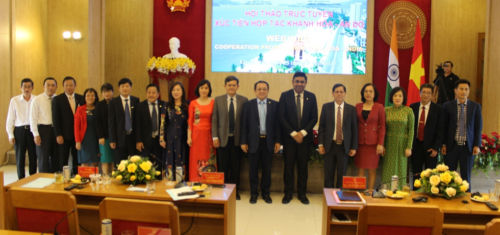 Webinar on 'Cooperation Promotion: India - Khanh Hoa Province' organized by CGI, HCMC in collaboration with Khanh Hoa Province on 25th March, 2021.