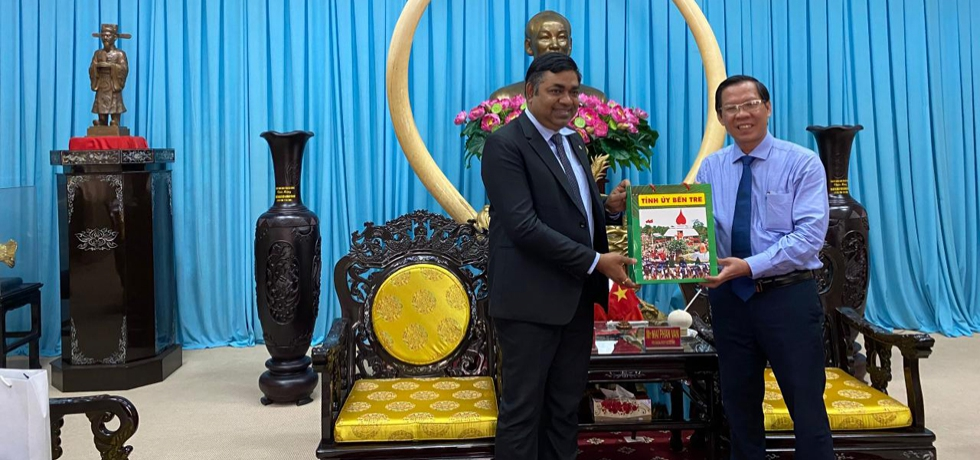 Consul General Dr. Madan Mohan Sethi paid a courtesy call on Mr.  Phan Van Mai, Party Secretary of Ben Tre Party Committee on 06 April, 2021.
