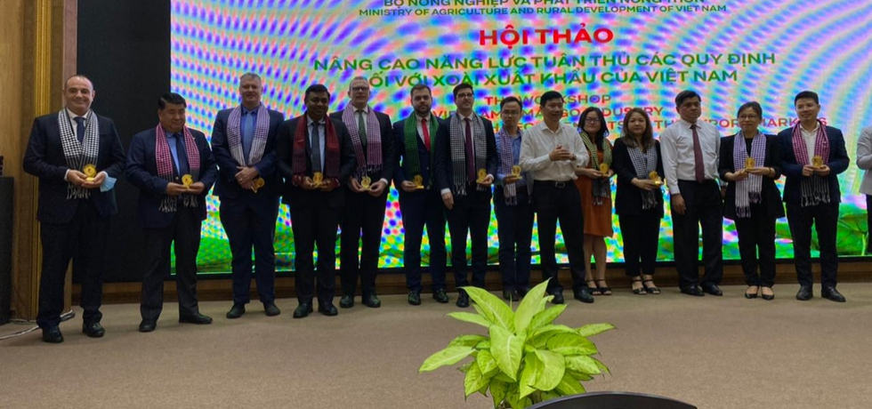 Consul General Dr. Madan Mohan Sethi attended the Workshop 'Vietnam's Mango Industry Towards Compliance with Requirements of the Export Markets' in Dong Thap Province on 12th April, 2021.