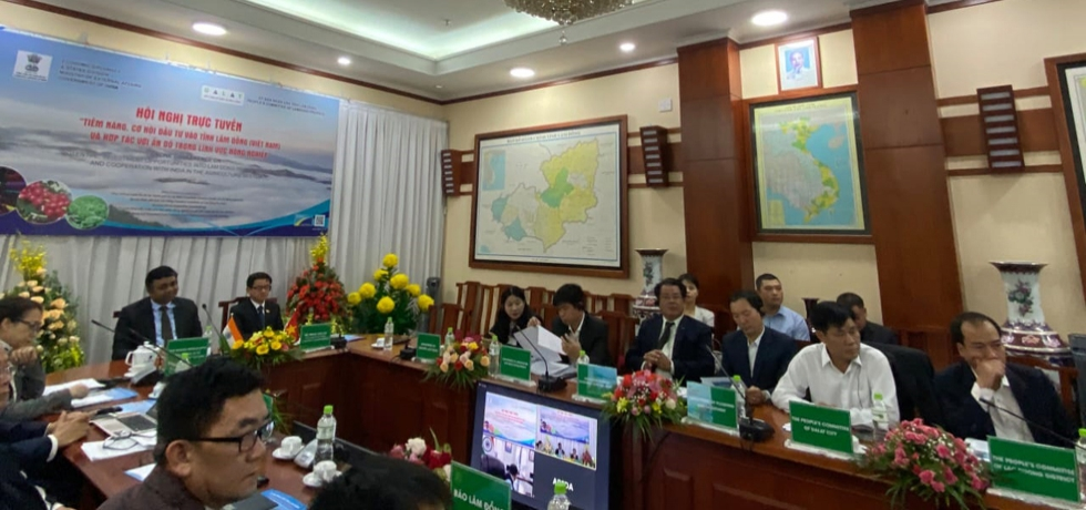Consulate General of India in HCMC in cooperation with the People's Committee of Lam Dong province and Agricultural and Processed Food Products Export Development Authority (APEDA) organized a webinar on 'Potential & Opportunities for investment in Lam Dong province & Cooperation with India in Smart Agriculture sector' on 22nd April 2021.