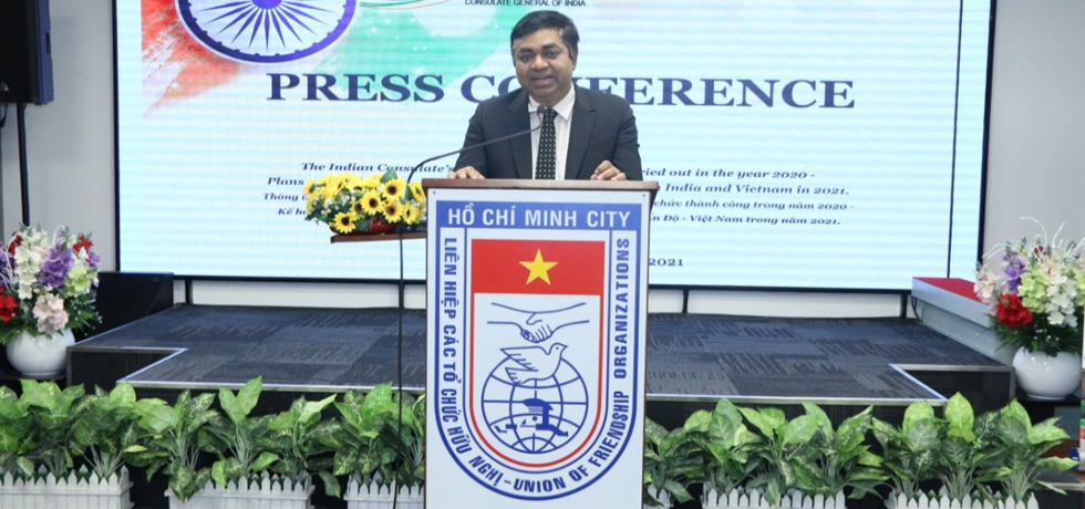 Consulate General of India in Ho Chi Minh City organized a Press Conference on the morning of April 26th, 2021 to brief about the activities of CGI in 2020-2021 to promote bilateral relations between India and Vietnam & India-Southern Vietnam Provinces.