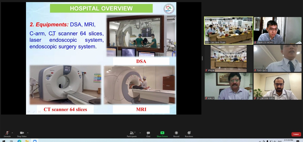 Virtual meeting between Ninh Thuan General Hospital, Ninh Thuan Province and Apollo Hospital, New Delhi on 25th May 2021 to discuss about the potential cooperation in healthcare sector.