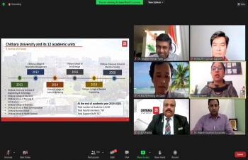 Online Seminar on 'AI Application' between Chitkara University and Ho Chi Minh City University of Technology and Education (12th July, 2021)