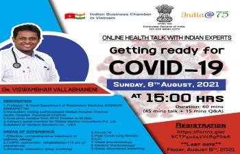 Online Health Talk with Dr. Viswambhar Vallabhaneni (8th August, 2021)