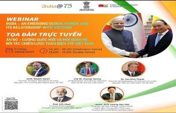 Webinar on 'India - Ann Emerging Global Power and Its Relationship with Vietnam' (13th August, 2021)