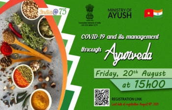 Webinar on Covid-19 and It's Management Through Ayurveda (20th August, 2021)
