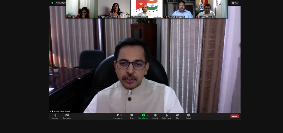 Remarks of Ambassador Shri Pranay Verma on the webinar on 'Covid-19 and Its Management Through Ayurveda' organized on 20th August, 2021 by Consulate General of India in HCMC in collaboration with Indian Business Chamber in Vietnam (INCHAM) and Ministry of Ayush.