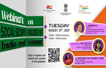 WEBINAR ON SOCIAL SECURITY POLICIES OF INDIA & VIETNAM (31st August, 2021)