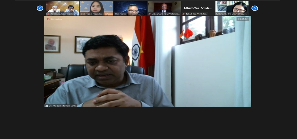 Remarks by Consul General Dr. Madan Mohan Sethi during the meeting on