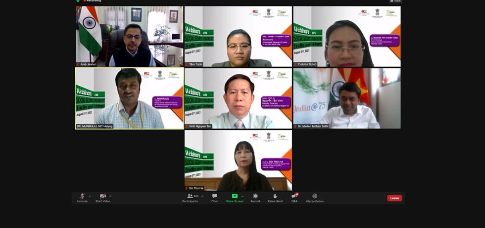 Consulate General of India in Ho Chi Minh City organized a Webinar on 'Social Security Policies of India and Vietnam' on 31st August, 2021.
