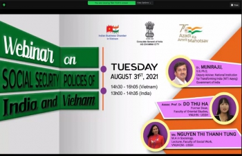 Webinar on Social Security Policies of India and Vietnam (31st August, 2021)